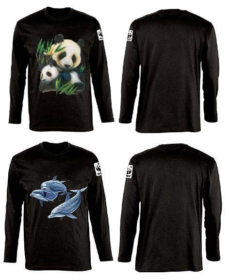 Camiseta negra de manga larga con animales WWF / ©: WWF
