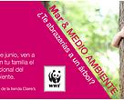 Anuncio de la semana del medio ambiente en Diagonal Mar, con WWF