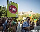Manifestación en Atenas para reclamar medidas contra el cambio climático