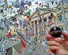 Llevamos al Congreso miles de origamis enviados por personas de todo el mundo que quieren que se proteja Doñana
