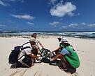 Restauración de escombreras en La Graciosa, durante el voluntariado de WWF en el Archipiélago Chinijo