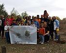 Los voluntarios de Correos tras restaurar el Sureste