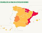 Gráfico según el nivel de desarrollo de identificación de zonas de alto riesgo de incendios por CCAA