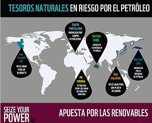 Tesoros naturales amenazados por el petróleo
