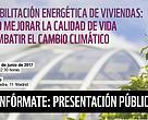 """Presentación del Informe: """"REHABILITACIÓN ENERGÉTICA DE VIVIENDAS: CÓMO MEJORAR LA CALIDAD DE VIDA Y COMBATIR EL CAMBIO CLIMÁTICO""""."""