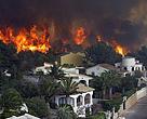 incendio forestal cerca de viviendas (incendios en la interfaz urbano forestal)