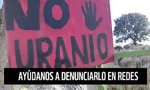 Denunciamos la mina de uranio en Salamanca.