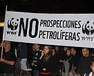 WWF en manifestación contra las prospecciones petrolíferas en Canarias.